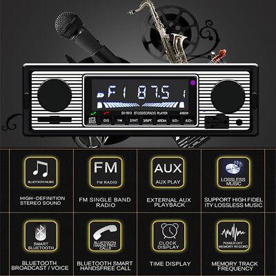 Car Stereo Radio Bluetooth In-dash Head  Player FM/MP3/AUX & Remot+ microphone