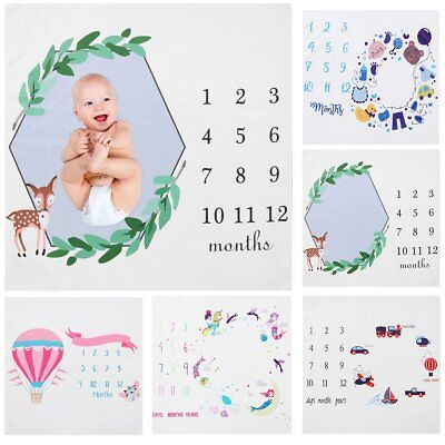 Newborn Baby Boy Girl Milestone Blanket Photography Photo Props Backdrop Cloth](Baby Girl Background)
