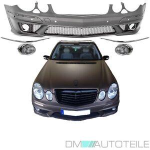 Mercedes W211 S211 AMG E63 Look Stoßstange vorne 06-09 Facelift Mopf +Kiemen