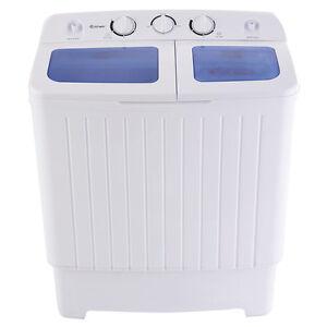 5KG Portable Mini Compact Twin Tub Washing Machine Washer Spin Dryer 300W