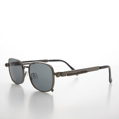 Tailored Gunmetal Sunglass with Industrial Temples and Gray Lens - (Tyga Sunglasses)