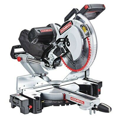 Admiral 12 in. Dual-Bevel Sliding Compound Miter Saw - w Blade - higher fence