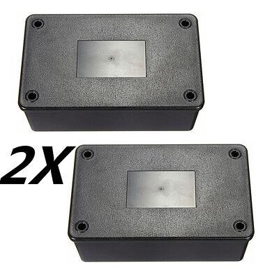 2x Black ABS Plastic Electronics Enclosure Project Box Case 103x64x40mm -