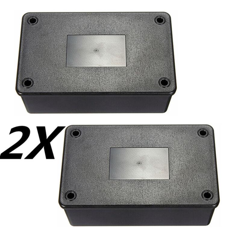 2x Black ABS Plastic Electronics Enclosure Project Box Case 103x64x40mm DIY