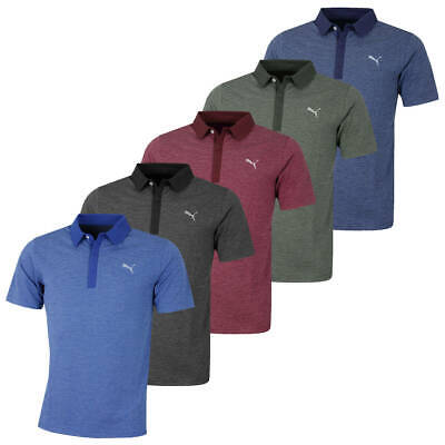 Puma Golf Mens Moving Day DryCELL Striped Performance Polo Shirt 48% OFF RRP