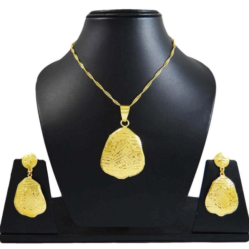22ct Indian Gold Pendant Set 993 99: Indian Gold Jewellery