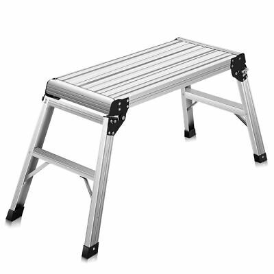 5hd En131 Aluminum Platform Drywall Step Up Folding Work Bench Stool Ladder New