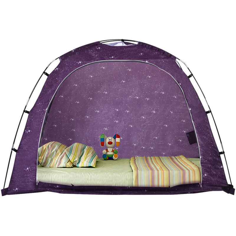 Twin Size Bed Tent Indoor Privacy Play Tent on Bed with Carry Bag Portable