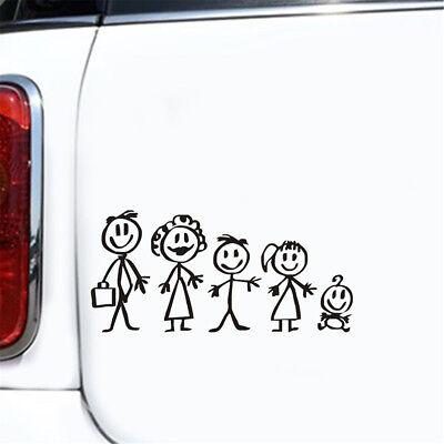 Fun Stickers (Fun Family Member Figure Car Sticker Vinyl Decal Wall Window Door Laptop)