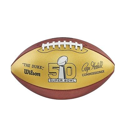 Wilson Official NFL Authentic On Field Game Football GOLD PANEL 50TH ANNIVERSARY
