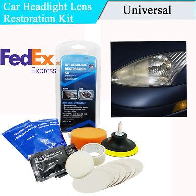 US Stock Removing Car Headlight Lens Haze Scratch Discoloration Restoration Kit ()