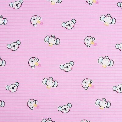 Baumwolljersey Jersey Streifen Koala Elefant Bär rosa weiß - Koala Bär Kind Kostüme