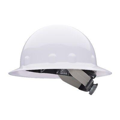 Fibre-metal Full Brim Hard Hat With Swingstrap Ratchet Suspension White
