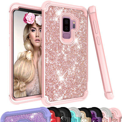 For Samsung Galaxy S9 / S9+ Plus Bling Glitter Rhinestone Hard Phone Case Cover ()