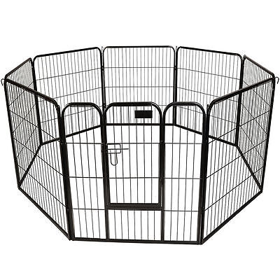 Puppy Dog Cat Pet Playpen Heavy Duty Metal Exercise Fence Hammigrid 8 Panel 30""