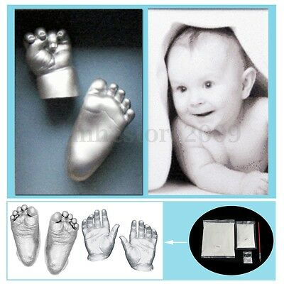 Keepsake 3D Plaster Handprints Footprints Baby Adult Hand&Foot Casting Mini Kit