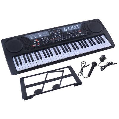 61 Keys Electronic USB MP3 Music Keyboard Piano Organ Records w/ Mic & Adaptor