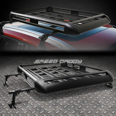 "50""X 38""ALUMINUM ROOF Torment SUV TOP CARGO LUGGAGE CARRIER BASKET+CROSSBAR BLACK"