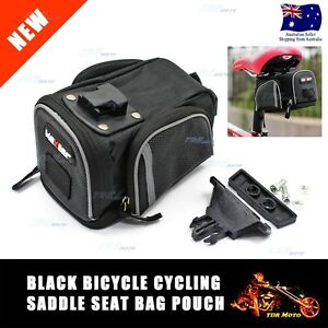 Large Rear Pack Bike Saddle Bag Bicycle Pouch Seat Pannier Cycling for Tool Kit