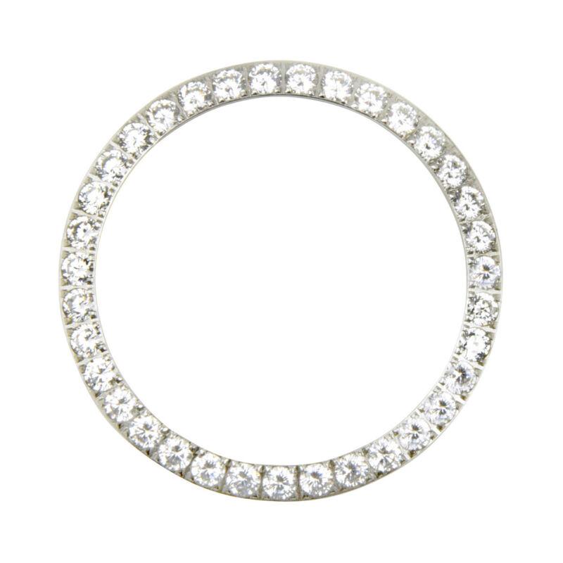 3 CT CREATED DIAMOND BEZEL  FOR MENS 36MM ROLEX DATEJUST PRESIDENT DAYDATE STEEL
