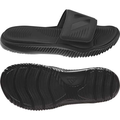 Adidas Mens Alphabounce Black Slides Athletic Sport Sandals B41720 Sizes 7-13