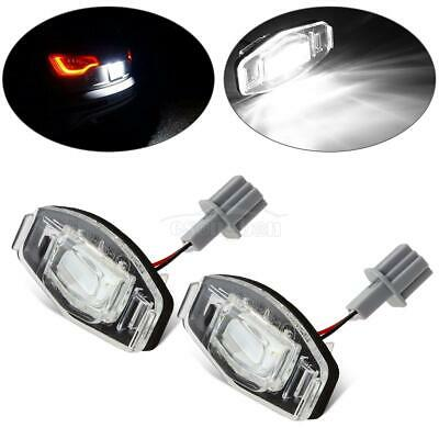 2pcs Rear License Plate Lamp Light LED for Honda Accord / Civic 18-SMD Replace