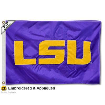 Louisiana State University Tigers 2'x3' Nylon Flag Nylon Louisiana State Flag