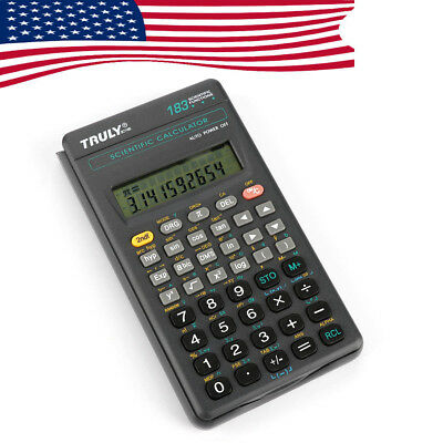 US Ship Truly SC-118B LCD Scientific Calculator Electronic 183 Functions Student