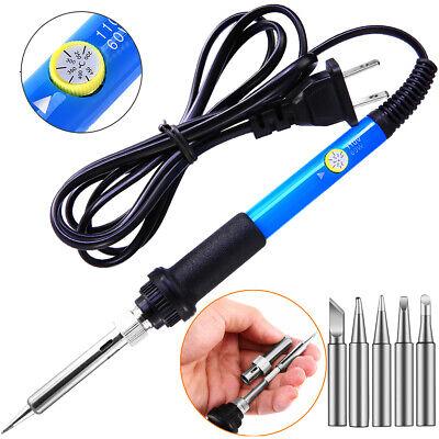Electric Soldering Iron Gun Adjustable Temperature 60w Welding Set Tool Kit 110v