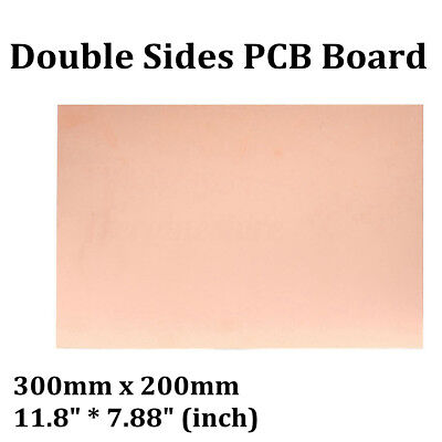 300x200mm Double Side Copper Clad Laminate Pcb Fr4 Board Fiberboard Ccl New