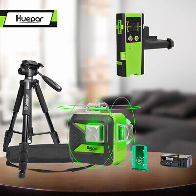 Huepar 12lines Self-leveling Rotary Grade Laser Level With Tripod And Receiver