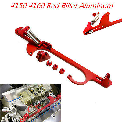 4150 4160 Red Aluminum Throttle Cable Carb Bracket Car Carburetor 350 360 330