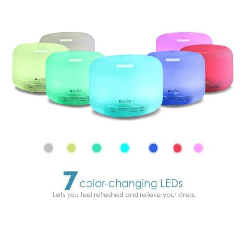 500ML Ultrasonic LED Air Humidifier Aroma Diffuser Vaporiser Mist Purifier