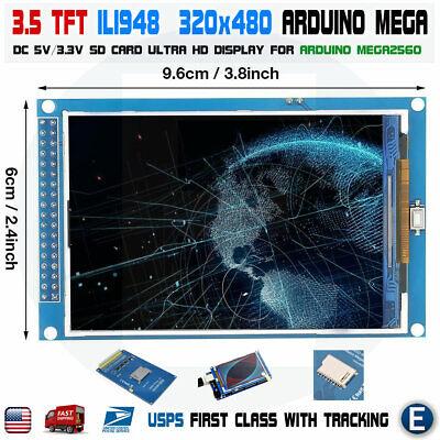 3.5 Inch Ili948 Tft Lcd Screen Module Ultra Hd 320x480 For Arduino Mega2560 Usa