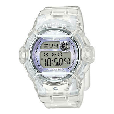 Casio Women's Watch Baby-G World Timer Transparent White Resin Strap BG169R-7E
