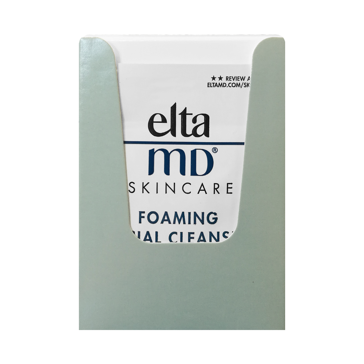 New Elta MD Foaming Facial Cleanser .07 oz / pack with box o
