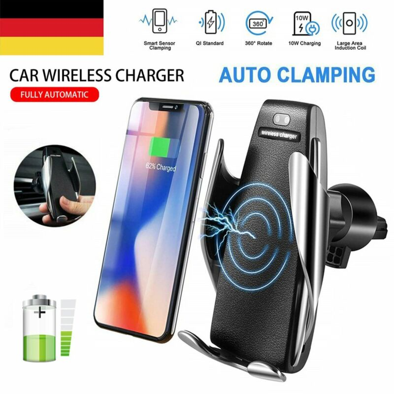 Qi Auto Ladegerät Magnet KFZ Handyhalter Wireless Induktions Magnetisch Charger