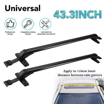 Universal 110CM Car Roof Rack Cross Bar Luggage Carrier Window Frame Adjustable