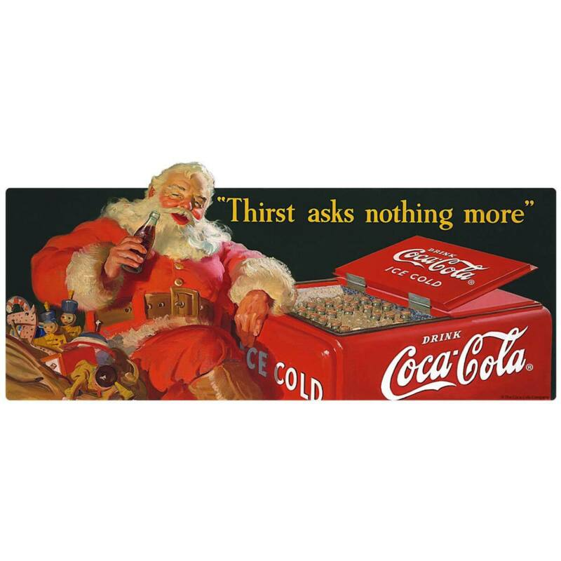 Coca-Cola Santa Thirst Asks Nothing More Decal Peel & Stick Graphic