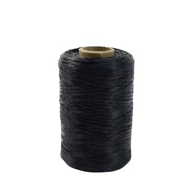 1 Single Spool Black Sinew Waxed Beading Craft Poly Thread Artificial Wax Sinue