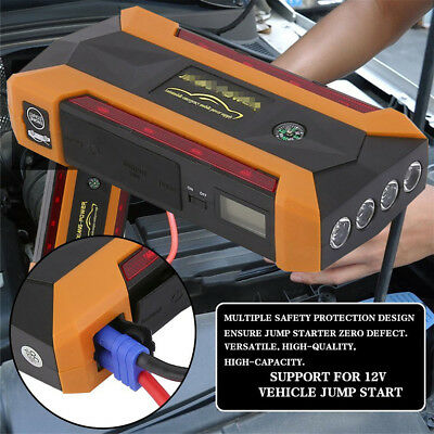 89800mah 4USB Car Jump Starter Pack Booster Charger Battery Power Bank LEDlight