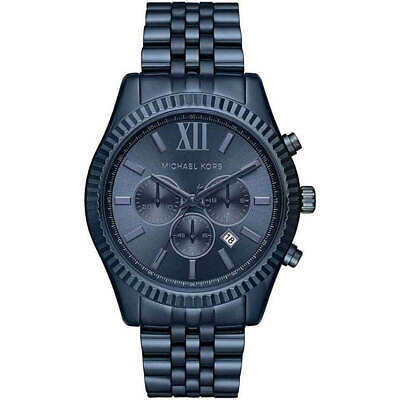 Michael Kors Men's Watch Lexington Chronograph Blue Dial Bracelet MK8480