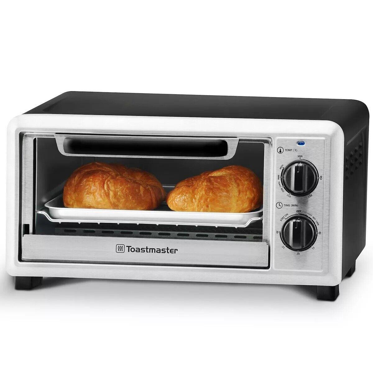 Toastmaster 4-Slice 10 Liter Toaster Oven 1000Watts Temperature Control TM-104TR