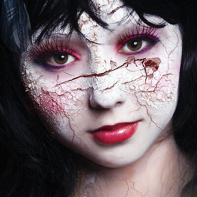Scary Mary Broken Dolly Makeup - Scary Halloween Makeup For Women