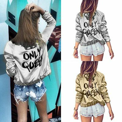Fashion Womens Ladies Long Sleeve Zipper Casual Blazer Suit Jacket Coat Outwear