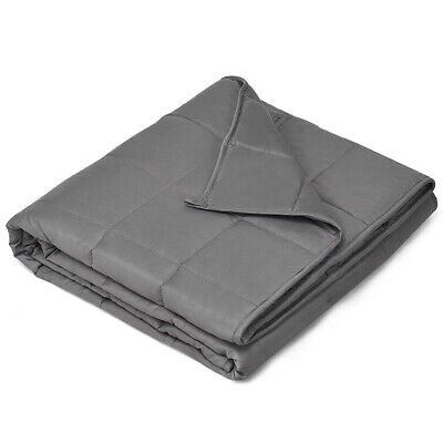 7lbs Weighted Blanket Double Layer Fabric Twin/Full Size 100