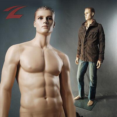 ZNL 187cm Mann Schaufensterpuppe Schaufensterfigur Mannequin Männlich Manichino