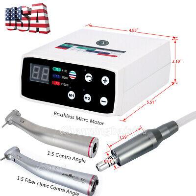 Dental Brushless Led Electric Micro Motor 15 Increasing Fiber Optic Handpiece