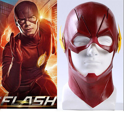 The Flash Allen Cosplay Helmet Halloween Full Face Latex Mask Hoods Cosplay Prop - Flash Mask