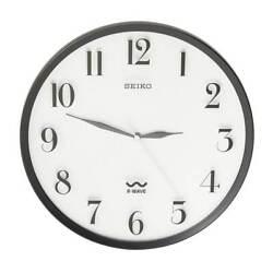 Seiko R-Wave Atomic Radio Controlled Quartz Wall Clock QXR131SLH